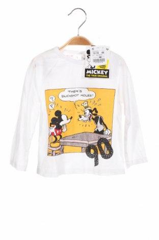 Детска блуза Lefties, Размер 12-18m/ 80-86 см, Цвят Бял, Памук, Цена 13,80лв.