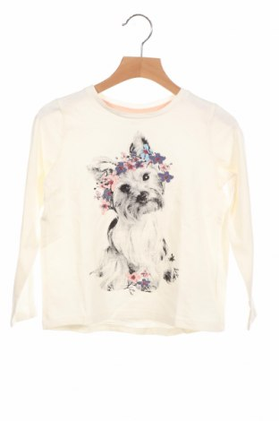 Детска блуза Name It, Размер 5-6y/ 116-122 см, Цвят Екрю, 95% памук, 5% еластан, Цена 28,50лв.
