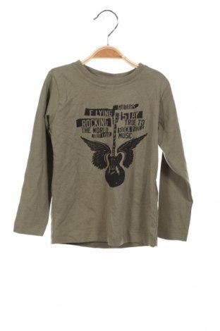 Детска блуза Name It, Размер 2-3y/ 98-104 см, Цвят Зелен, 95% памук, 5% еластан, Цена 10,64лв.