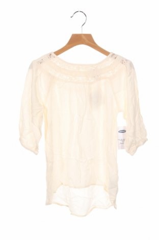 Детска блуза Old Navy, Размер 6-7y/ 122-128 см, Цвят Екрю, Вискоза, Цена 28,50лв.