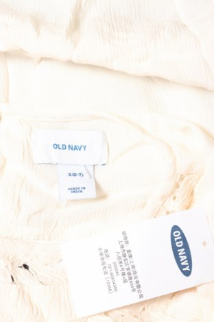 Детска блуза Old Navy, Размер 6-7y/ 122-128 см, Цвят Екрю, Вискоза, Цена 23,94лв.