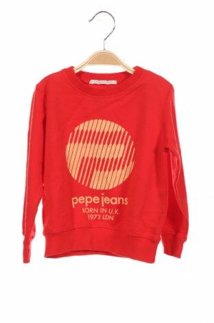 Детска блуза Pepe Jeans, Размер 2-3y/ 98-104 см, Цвят Червен, 95% памук, 5% еластан, Цена 31,27лв.
