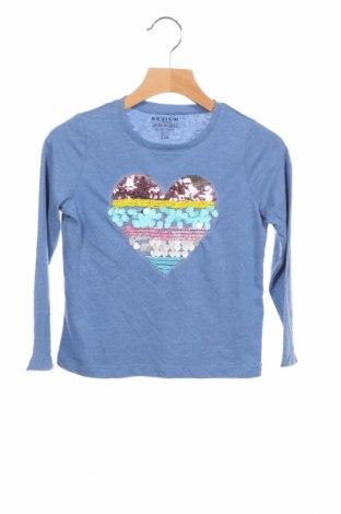 Детска блуза Review, Размер 3-4y/ 104-110 см, Цвят Син, 60% памук, 40% полиестер, Цена 18,02лв.