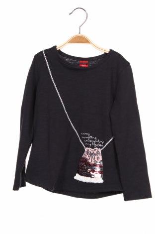 Детска блуза S.Oliver, Размер 3-4y/ 104-110 см, Цвят Сив, Памук, Цена 11,22лв.