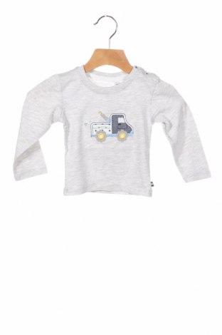 Детска блуза Salt and pepper, Размер 2-3m/ 56-62 см, Цвят Сив, 98% памук, 2% еластан, Цена 9,24лв.