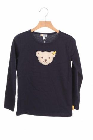 Детска блуза Steiff, Размер 5-6y/ 116-122 см, Цвят Син, Памук, Цена 31,50лв.