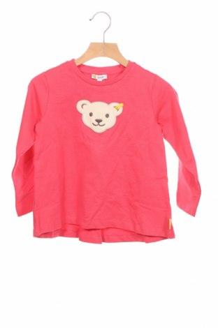 Детска блуза Steiff, Размер 2-3y/ 98-104 см, Цвят Розов, 100% памук, Цена 31,85лв.
