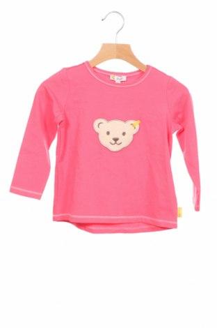 Детска блуза Steiff, Размер 18-24m/ 86-98 см, Цвят Розов, 95% памук, 5% еластан, Цена 25,97лв.