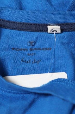 Детска блуза Tom Tailor, Размер 6-9m/ 68-74 см, Цвят Син, Памук, Цена 16,50лв.