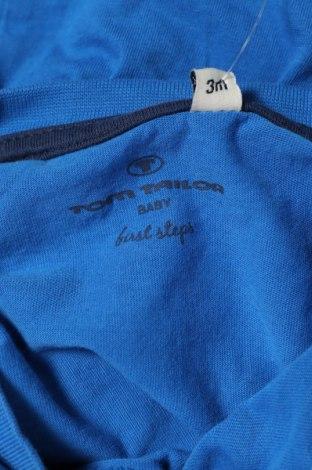 Детска блуза Tom Tailor, Размер 3-6m/ 62-68 см, Цвят Син, Памук, Цена 16,50лв.