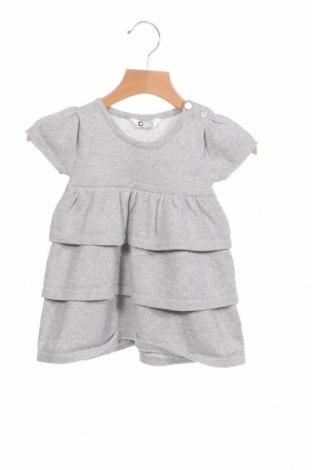Детска рокля Cubus, Размер 9-12m/ 74-80 см, Цвят Сив, 62% памук, 15% полиамид, 23% метални нишки, Цена 8,13лв.