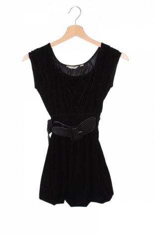 Детска рокля Kids By Lindex, Размер 7-8y/ 128-134 см, Цвят Черен, 92% полиестер, 8% еластан, Цена 8,66лв.