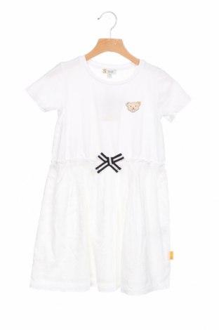Детска рокля Steiff, Размер 4-5y/ 110-116 см, Цвят Бял, 95% памук, 5% еластан, Цена 51,00лв.