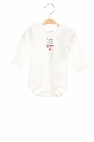 Детско боди Kanz, Размер 3-6m/ 62-68 см, Цвят Бял, 95% памук, 5% еластан, Цена 8,96лв.