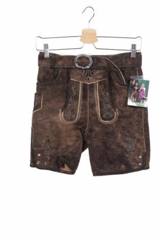 Dětské krátké kalhoty  Isar-Trachten, Velikost 10-11y/ 146-152 cm, Barva Černá, Přírodní velur , Cena  370,00Kč
