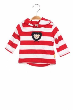 Детски суичър Steiff, Размер 2-3m/ 56-62 см, Цвят Червен, 95% памук, 5% еластан, Цена 15,12лв.