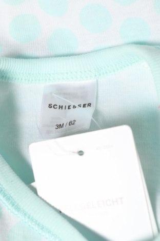 Детско боди Schiesser, Размер 3-6m/ 62-68 см, Цвят Син, 100% памук, Цена 11,20лв.