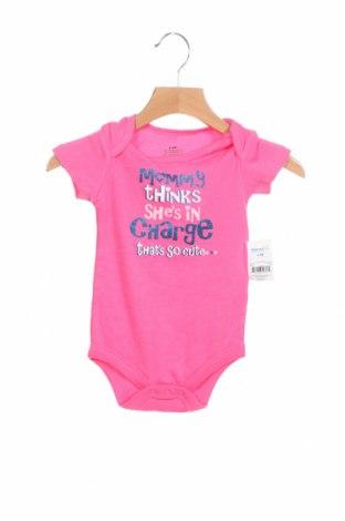 Детско боди Walmart, Размер 6-9m/ 68-74 см, Цвят Розов, 60% памук, 40% полиестер, Цена 8,13лв.