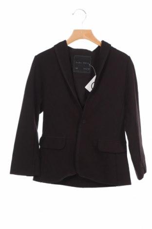 Детско сако Zara Kids, Размер 7-8y/ 128-134 см, Цвят Черен, 55% памук, 43% полиестер, 2% еластан, Цена 6,50лв.