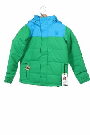 Детско яке за зимни спортове Burton, Размер 10-11y/ 146-152 см, Цвят Зелен, Полиестер, Цена 210,68лв.
