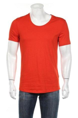 Мъжка тениска J.Lindeberg, Размер M, Цвят Оранжев, Памук, Цена 17,55лв.
