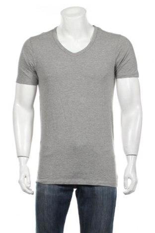 Мъжка тениска Jack & Jones, Размер L, Цвят Сив, 78% памук, 14% вискоза, 8% еластан, Цена 15,60лв.