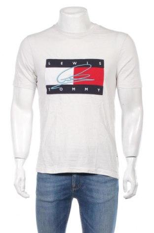 Męski T-shirt Lewis Hamilton X Tommy Hilfiger, Rozmiar M, Kolor Szary, Bawełna, Cena 165,60zł
