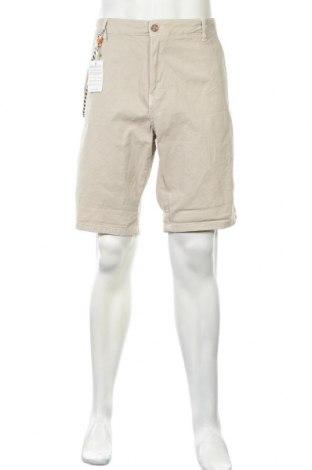 Ανδρικό κοντό παντελόνι Bershka, Μέγεθος XL, Χρώμα  Μπέζ, 98% βαμβάκι, 2% ελαστάνη, Τιμή 12,73€