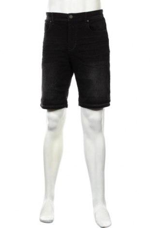 Ανδρικό κοντό παντελόνι C&A, Μέγεθος L, Χρώμα Μαύρο, 79% βαμβάκι, 19% πολυεστέρας, 2% ελαστάνη, Τιμή 13,36€