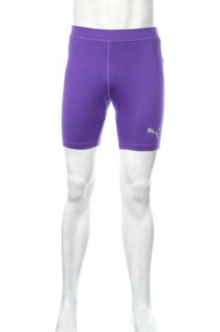Męskie legginsy PUMA, Rozmiar L, Kolor Fioletowy, 88% poliester, 12% elastyna, Cena 81,13zł