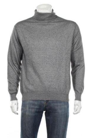 Męski sweter, Rozmiar L, Kolor Szary, 60% jedwab, 40% kaszmir, Cena 195,00zł