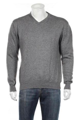Мъжки пуловер A.W.Dunmore, Размер L, Цвят Сив, 55% коприна, 45% кашмир, Цена 20,74лв.