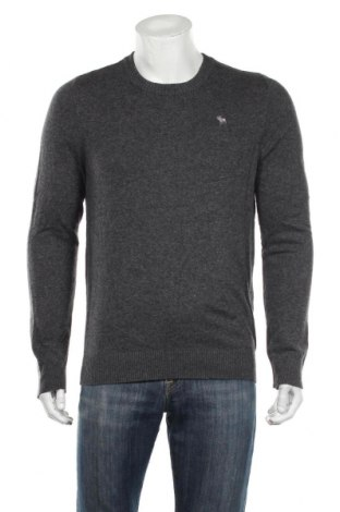Męski sweter Abercrombie & Fitch, Rozmiar L, Kolor Szary, 95% bawełna, 5% kaszmir, Cena 138,00zł