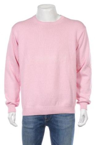 Męski sweter Edward Spiers, Rozmiar XXL, Kolor Różowy, Bawełna, Cena 130,00zł