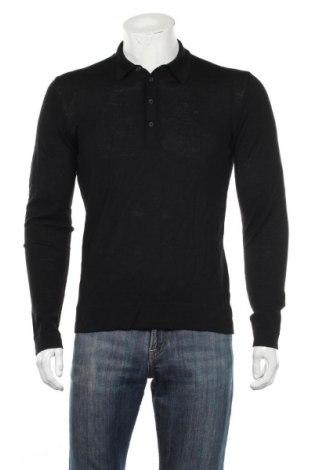 Мъжки пуловер J.Lindeberg, Размер M, Цвят Черен, Мерино, Цена 44,10лв.