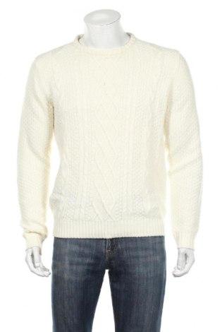 Męski sweter Hampton Republic, Rozmiar M, Kolor Biały, Akryl, Cena 81,00zł