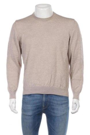 Мъжки пуловер Marz, Размер L, Цвят Бежов, Мерино, Цена 10,92лв.