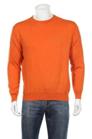 Męski sweter Polo By Ralph Lauren, Rozmiar M, Kolor Pomarańczowy, 100% wełna, Cena 174,00zł