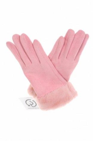 Ръкавици, Цвят Розов, Полиестер, Цена 19,95лв.