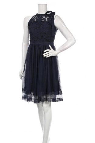 Sukienka Vila, Rozmiar M, Kolor Niebieski, 42% bawełna, 25% poliester, 33% poliamid, Cena 148,13zł