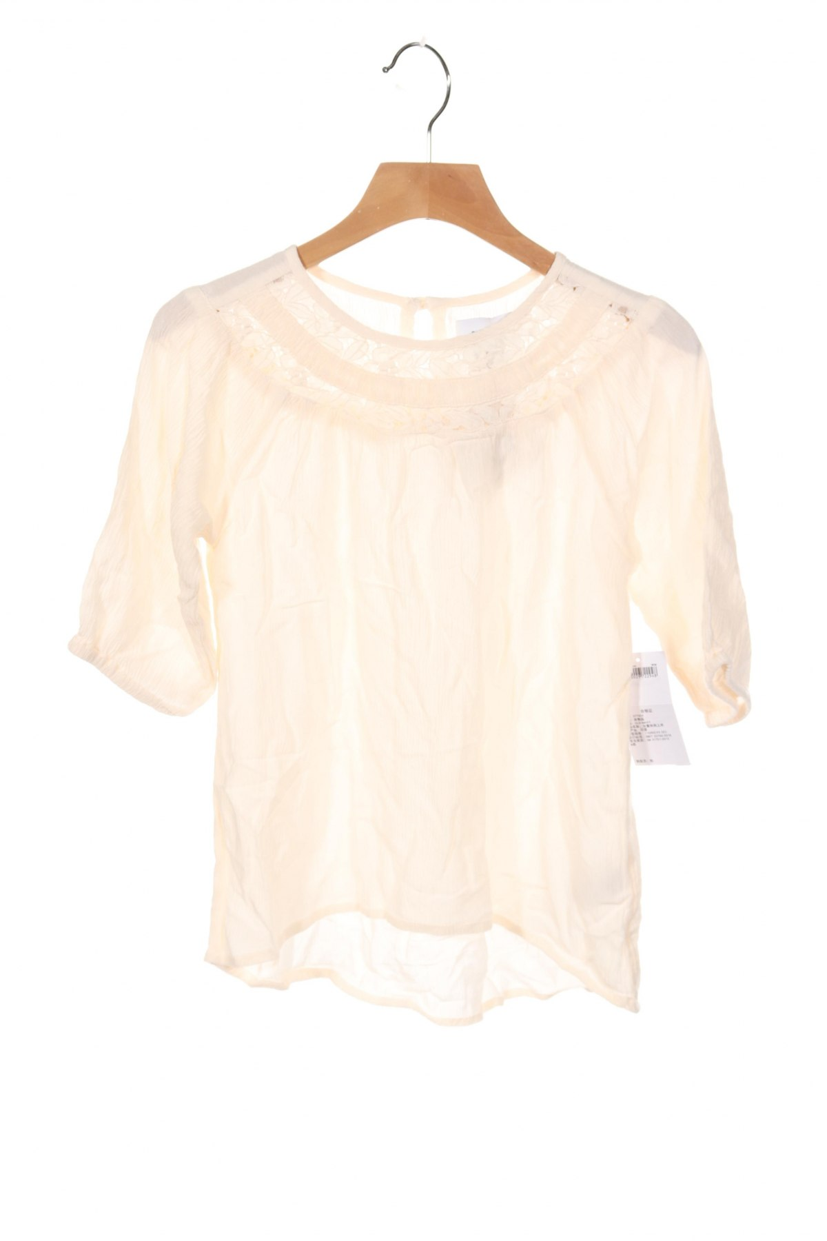 Детска блуза Old Navy, Размер 4-5y/ 110-116 см, Цвят Екрю, Вискоза, Цена 23,94лв.