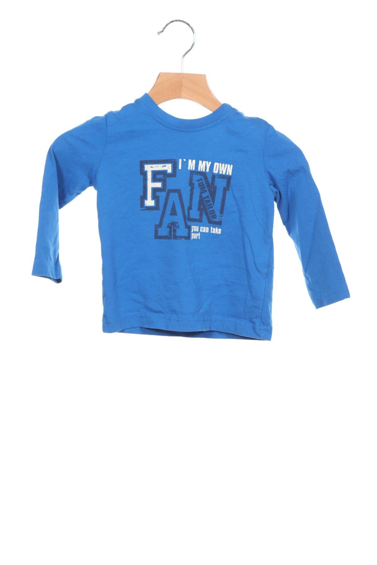 Детска блуза Tom Tailor, Размер 12-18m/ 80-86 см, Цвят Син, Памук, Цена 16,50лв.