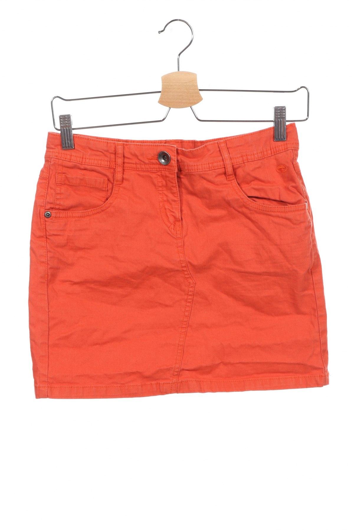 Детска пола Tom Tailor, Размер 15-18y/ 170-176 см, Цвят Оранжев, 98% памук, 2% еластан, Цена 23,10лв.