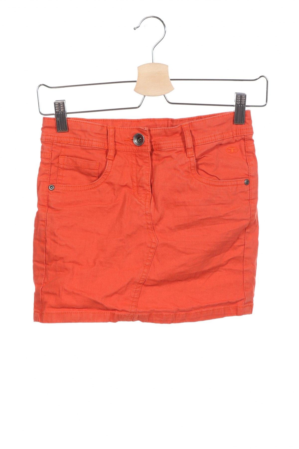 Детска пола Tom Tailor, Размер 10-11y/ 146-152 см, Цвят Оранжев, 98% памук, 2% еластан, Цена 18,90лв.