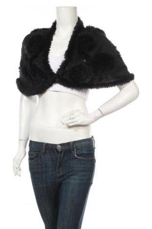 Болеро Cream, Размер S, Цвят Черен, Текстил, естествен косъм, Цена 31,19лв.