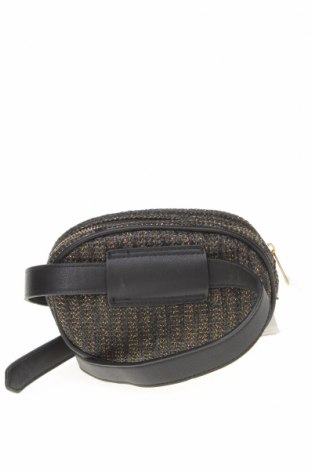 Чанта за кръст Lefties, Цвят Черен, Текстил, еко кожа, Цена 21,75лв.