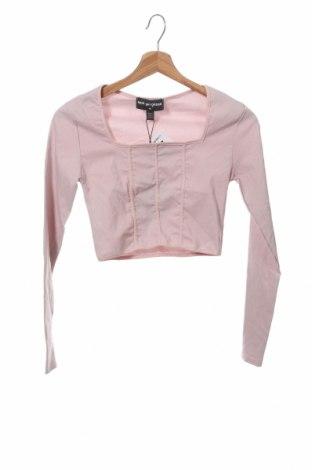 Дамска блуза NEW girl ORDER, Размер M, Цвят Розов, 74% вискоза, 23% полиамид, 3% еластан, Цена 16,17лв.