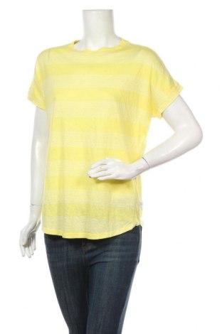 Дамска блуза Q/S by S.Oliver, Размер M, Цвят Жълт, 50% лен, 50% модал, Цена 15,89лв.