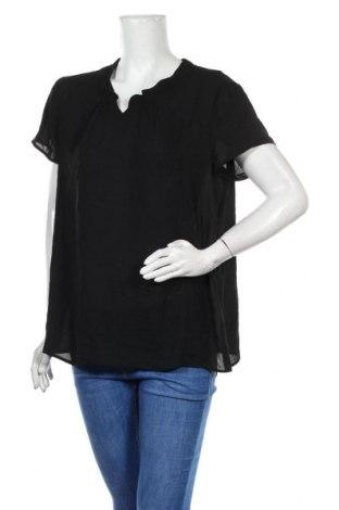 Дамска блуза S.Oliver, Размер L, Цвят Черен, Полиестер, Цена 11,08лв.