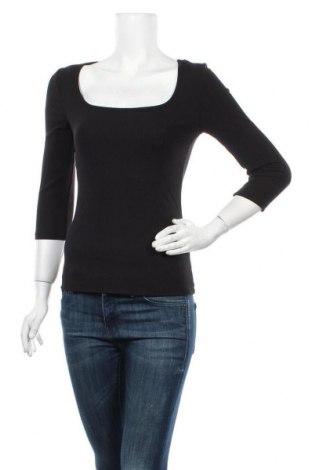 Дамска блуза Tamaris, Размер S, Цвят Черен, 62% полиестер, 33% вискоза, 5% еластан, Цена 28,60лв.
